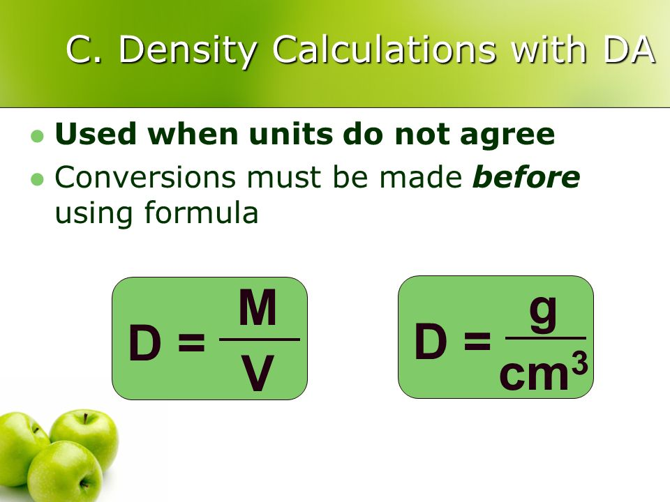 C. Density Calculations with DA
