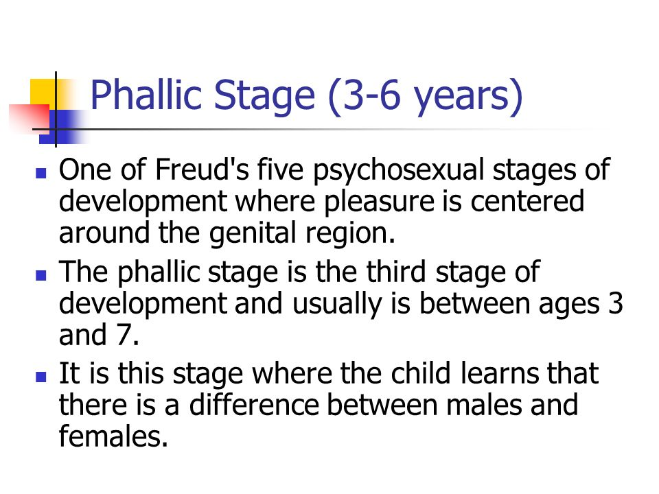 Freud psychosexual stages of development