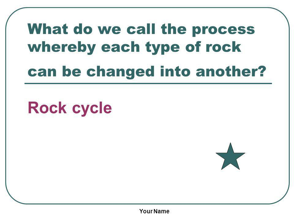 What do we call the process whereby each type of rock can be changed into another