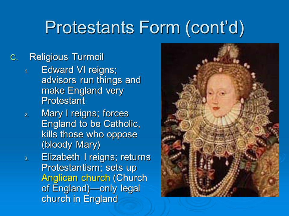 Protestants Form (cont'd)