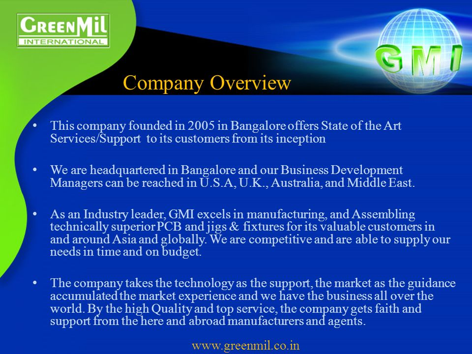 Welcome GreenMil International - ppt video online download