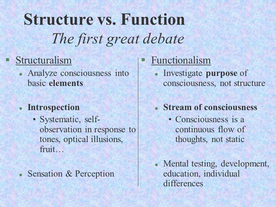 compare structuralism and functionalism