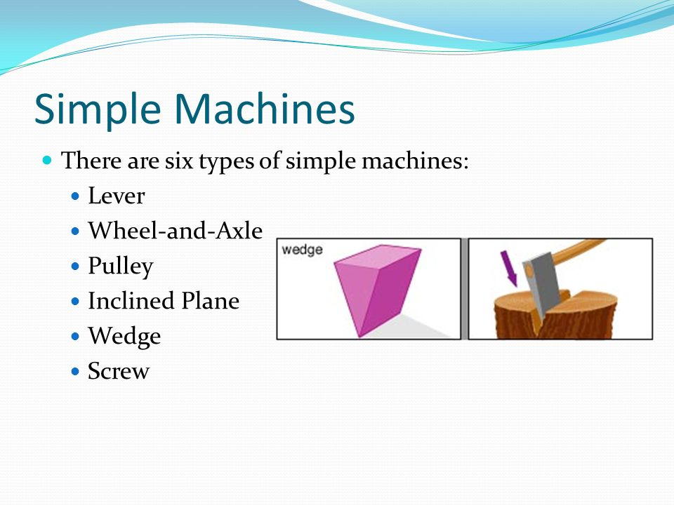 Simple Machines Lever Wheel Axle Pulley