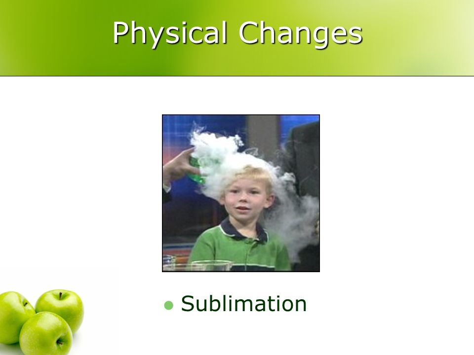 Physical Changes Sublimation
