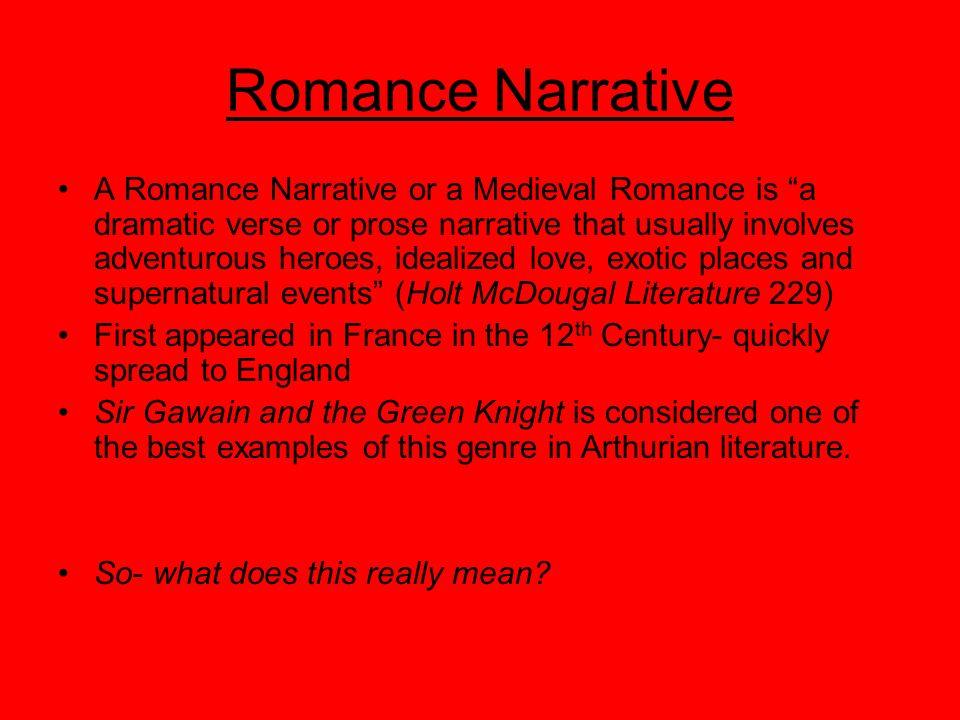 Arthurian Legend: A Romance Narrative and The Romance Hero - ppt
