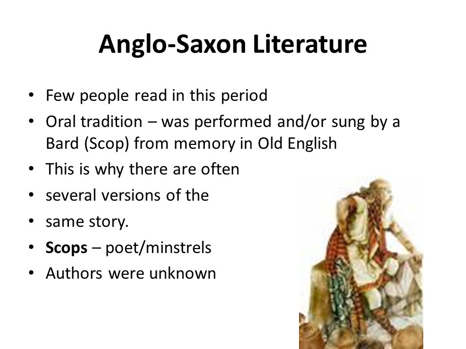 anglo saxon oral tradition