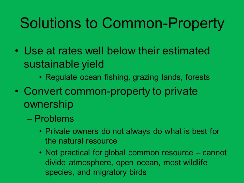 Solutions to Common-Property