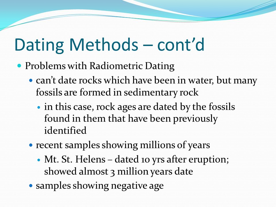 Describe the radiometric dating methods