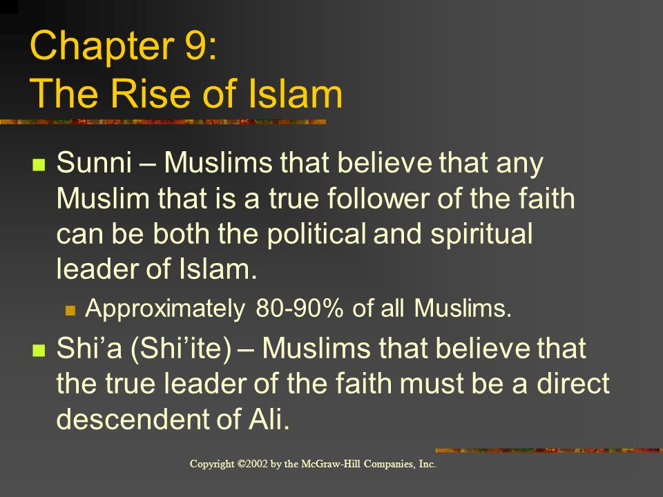 Chapter 9: The Rise of Islam