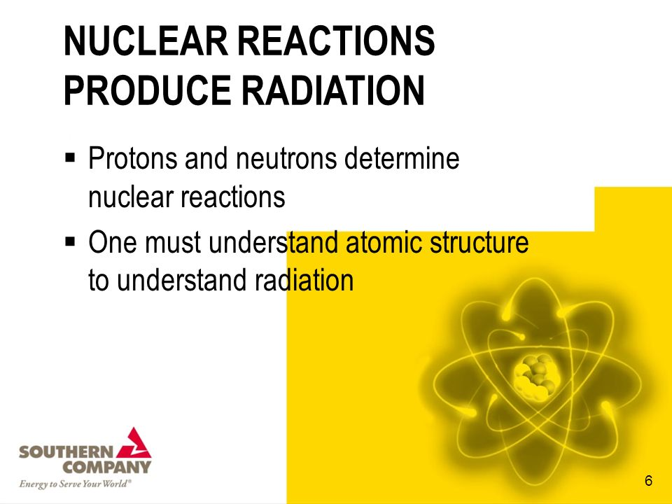 NUCLEAR REACTIONS PRODUCE RADIATION