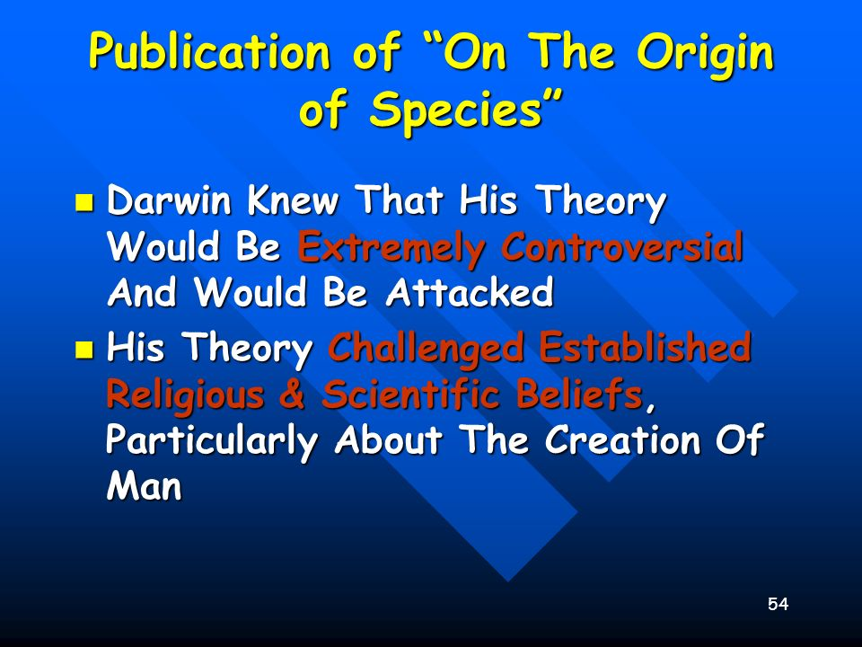 Publication of On The Origin of Species