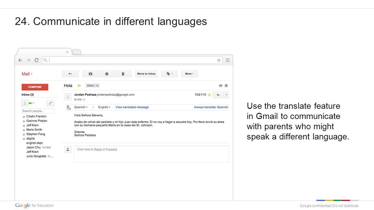 Objective Use this training deck to implement Google Apps in