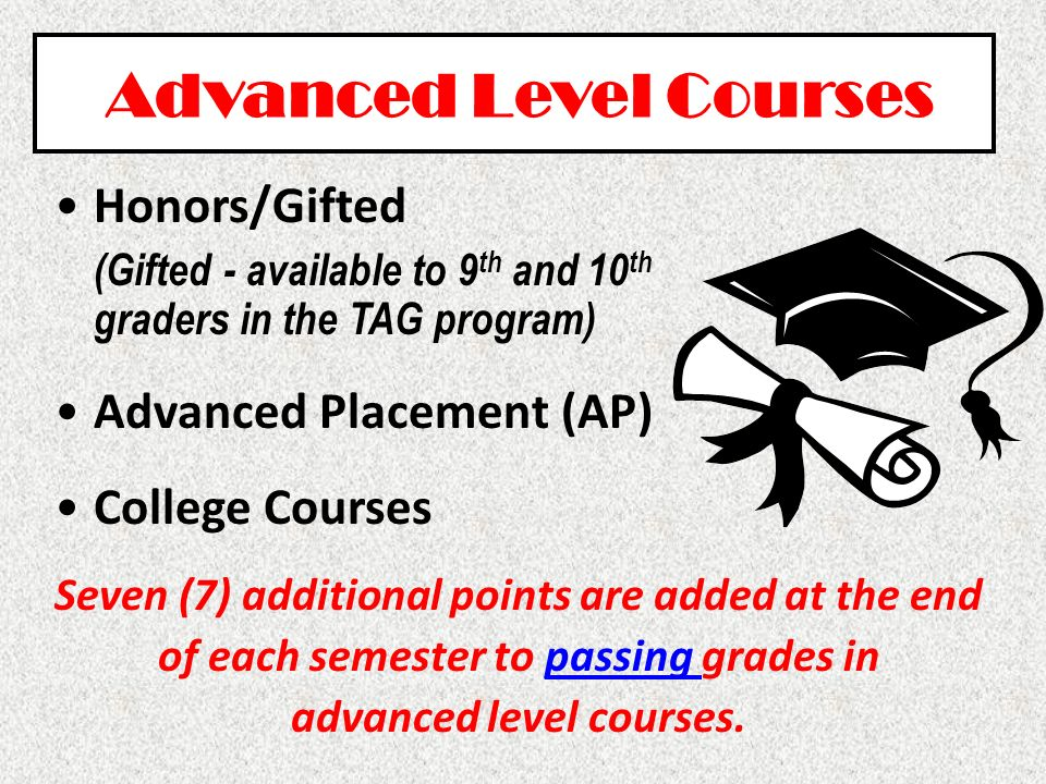 Advanced Level Courses