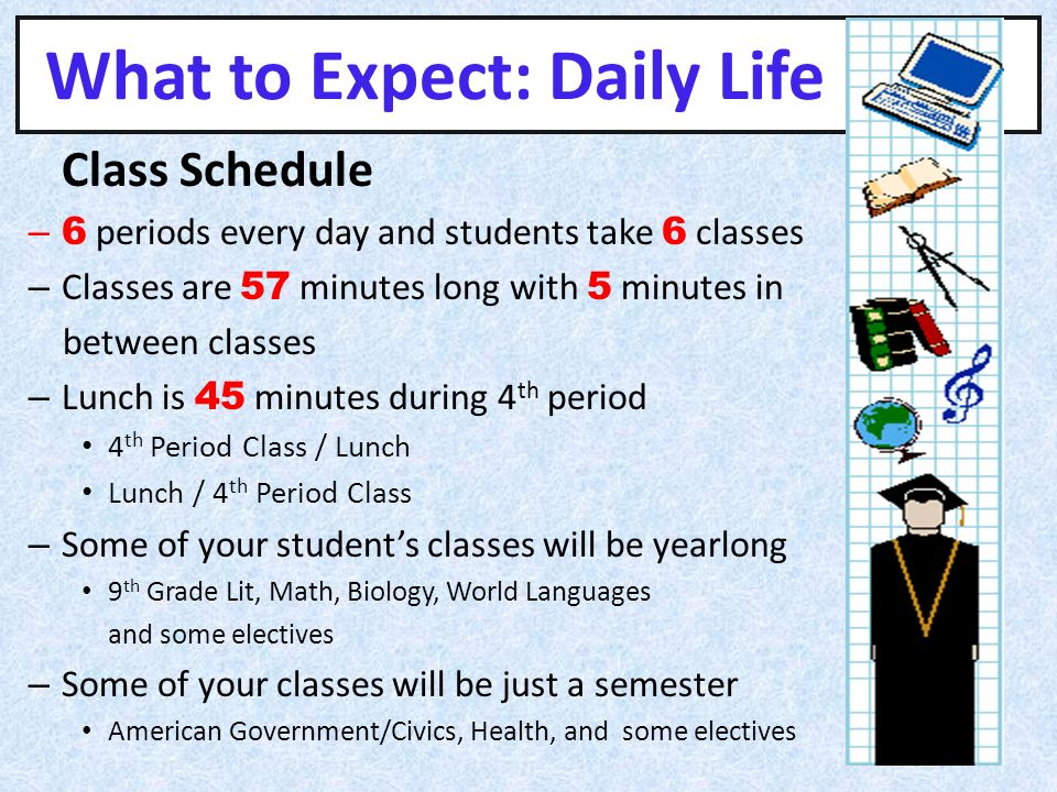 What to Expect: Daily Life