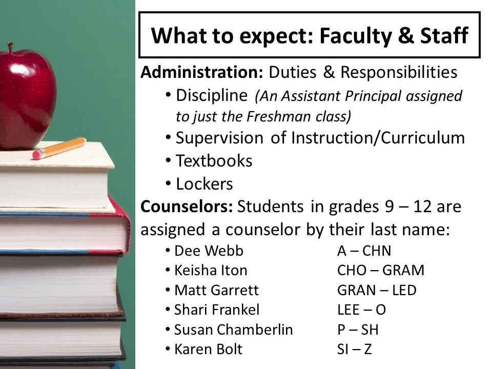 What to expect: Faculty & Staff