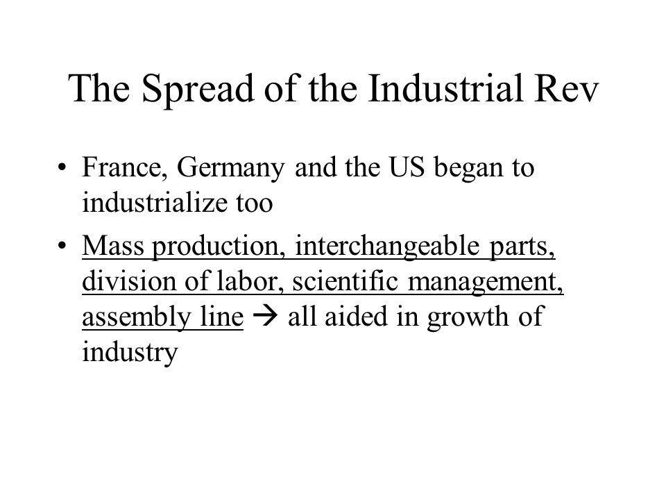 The Spread of the Industrial Rev
