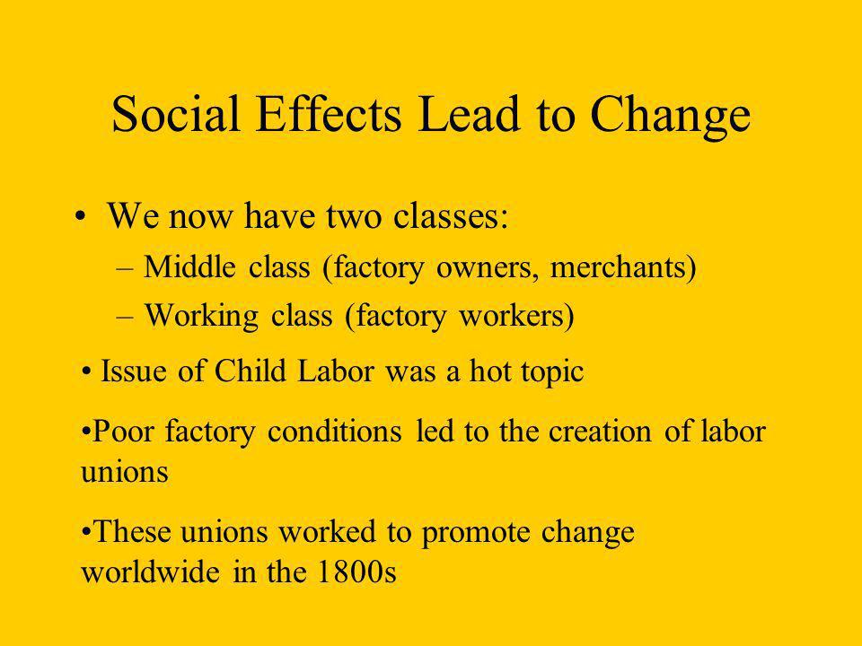Social Effects Lead to Change