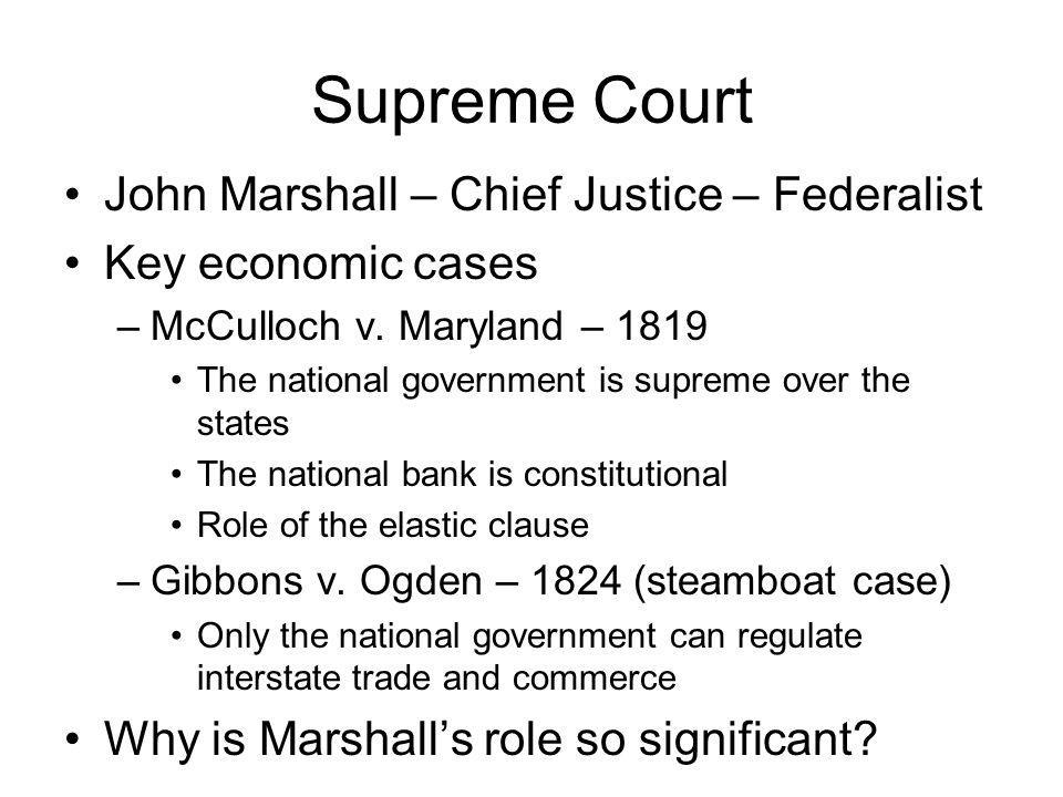 Supreme Court John Marshall – Chief Justice – Federalist