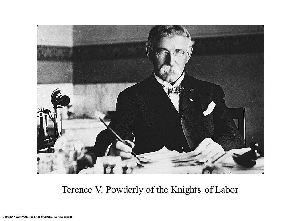 Terence V. Powderly of the Knights of Labor