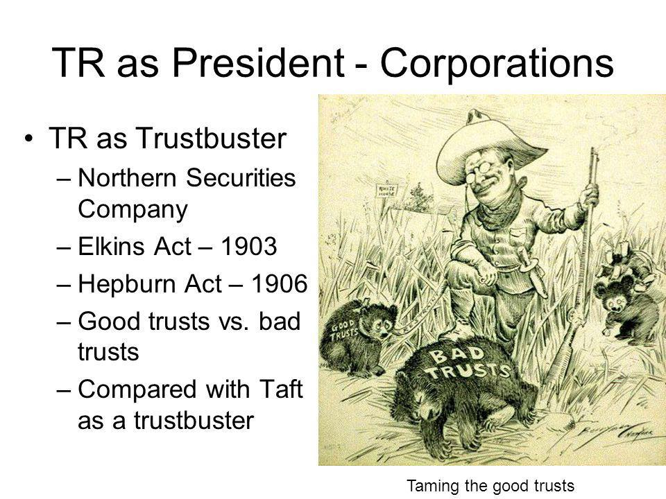 TR as President - Corporations