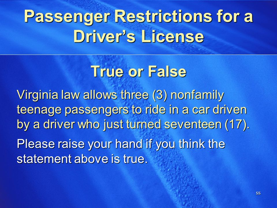 Possible fill Teen driving laws in virginia only