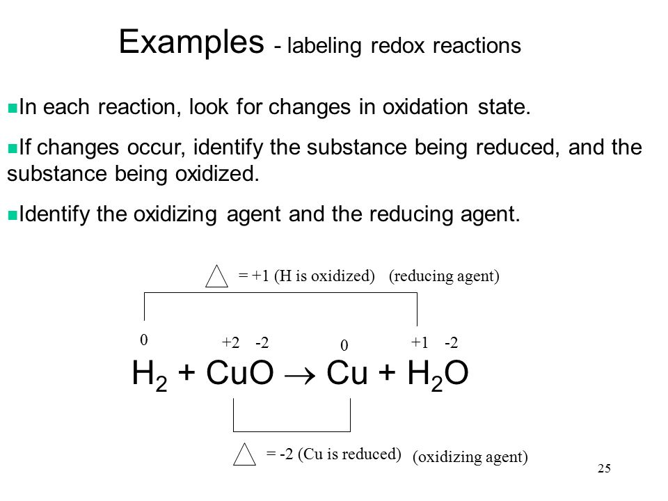 Chapter 20 Oxidation-Reduction Reactions (Redox Reactions ...