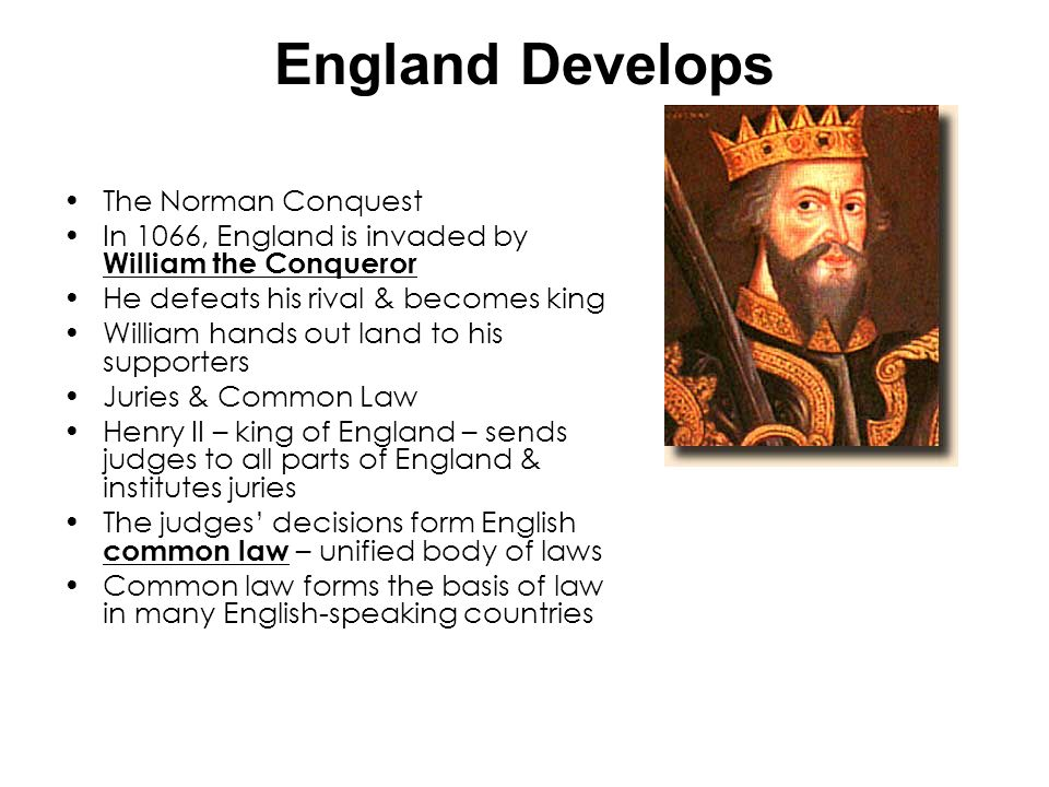 England Develops The Norman Conquest