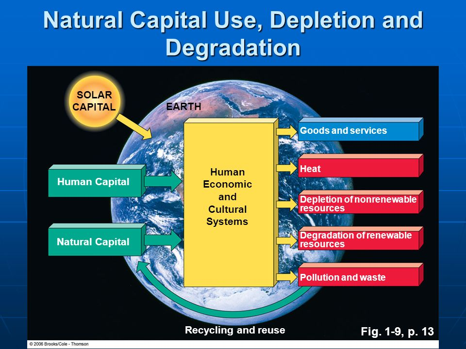 Natural Capital Use, Depletion and Degradation