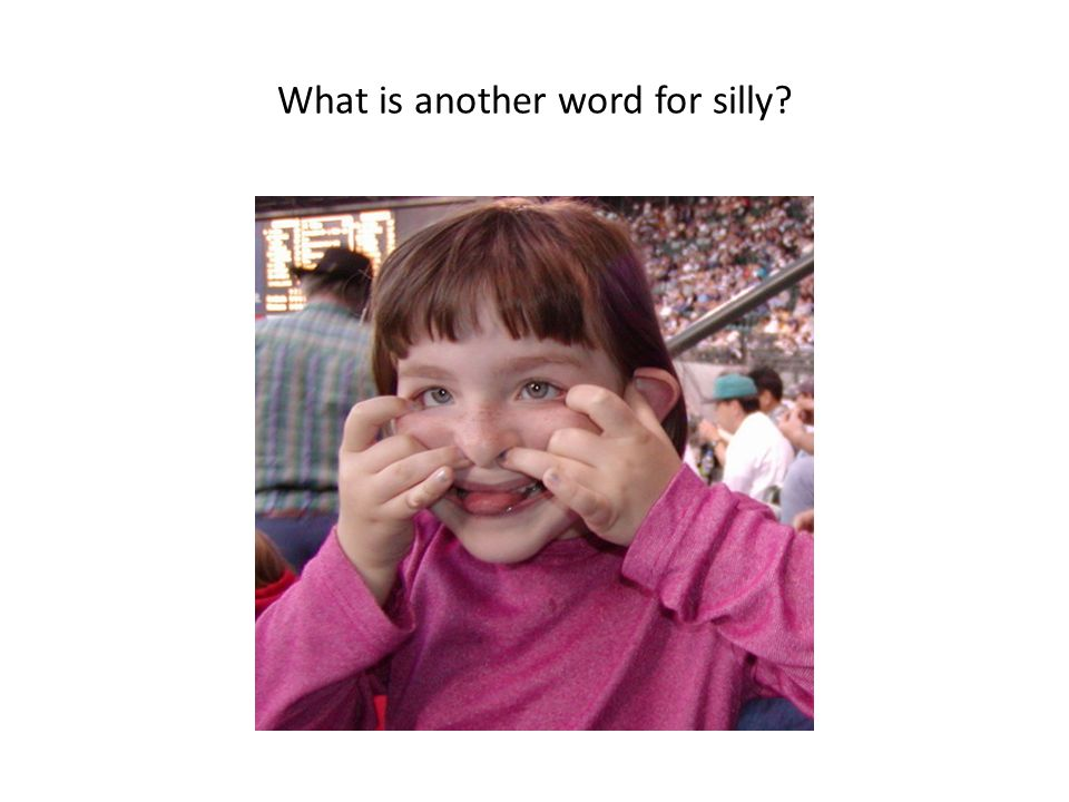 What is another word for silly