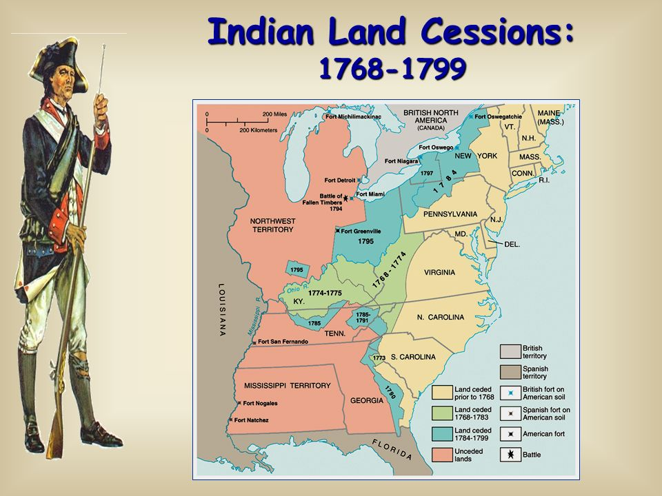 Indian Land Cessions: 1768-1799