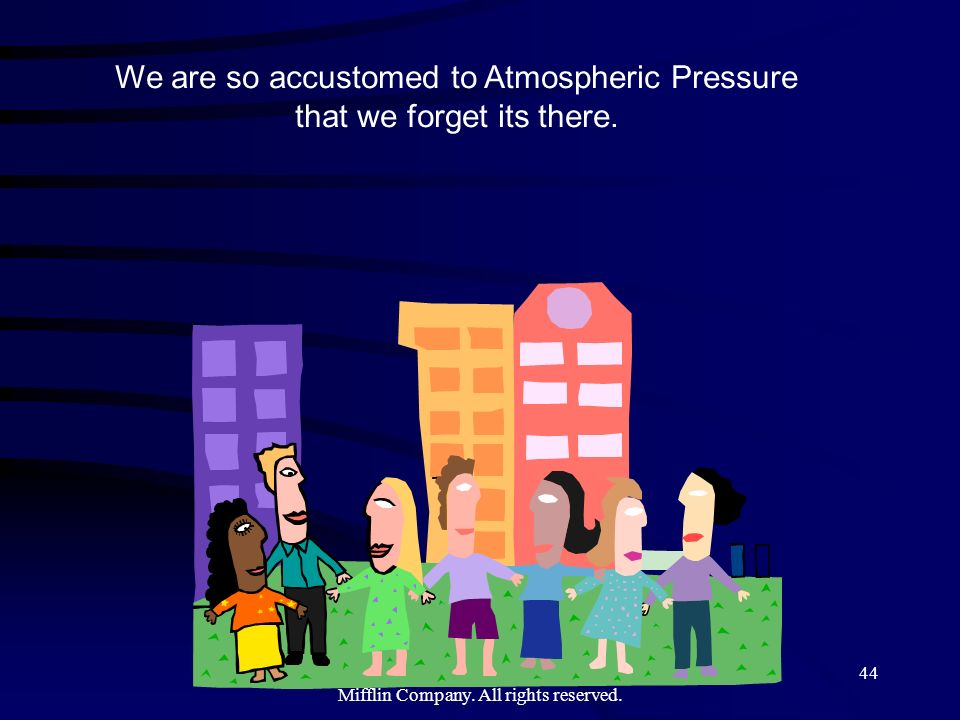 We are so accustomed to Atmospheric Pressure that we forget its there.
