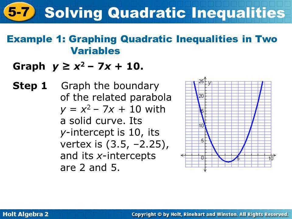 Solving Quadratic Inequalities Ppt Video Online Download