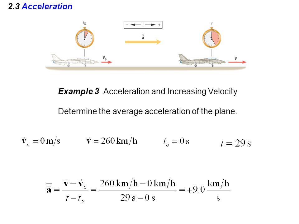 2.3 Acceleration Example 3 Acceleration and Increasing Velocity.