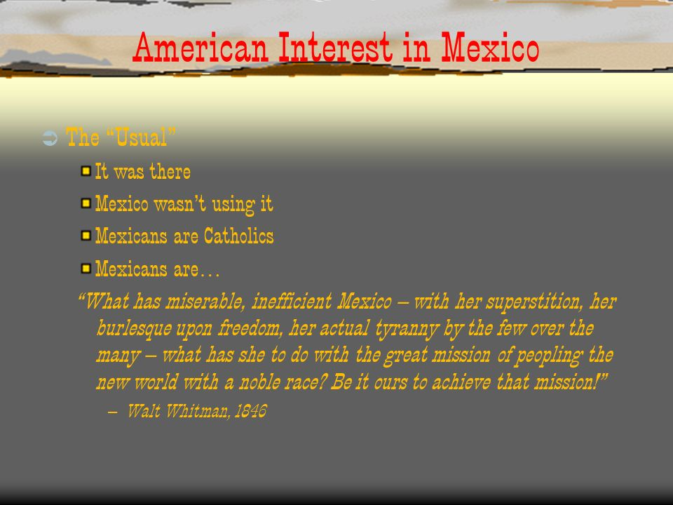 American Interest in Mexico