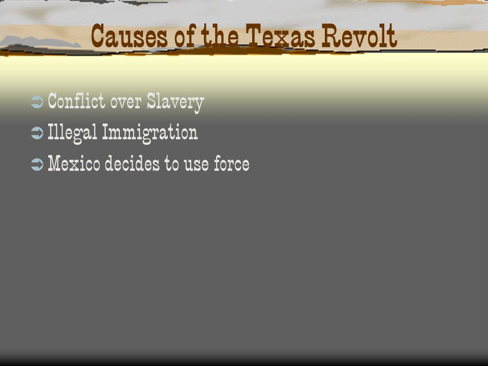 Causes of the Texas Revolt