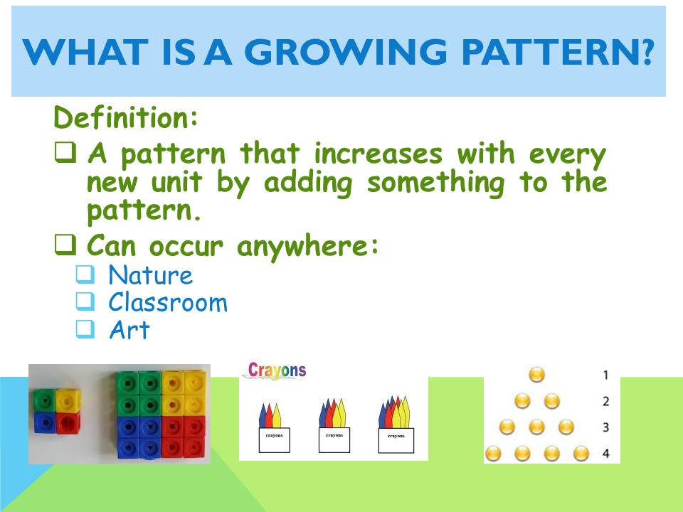 Repeating And Growing Patterns Ppt Video Online Download Inspiration Patterns Definition
