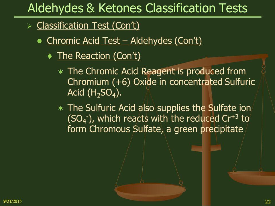 chromic acid test for ketones