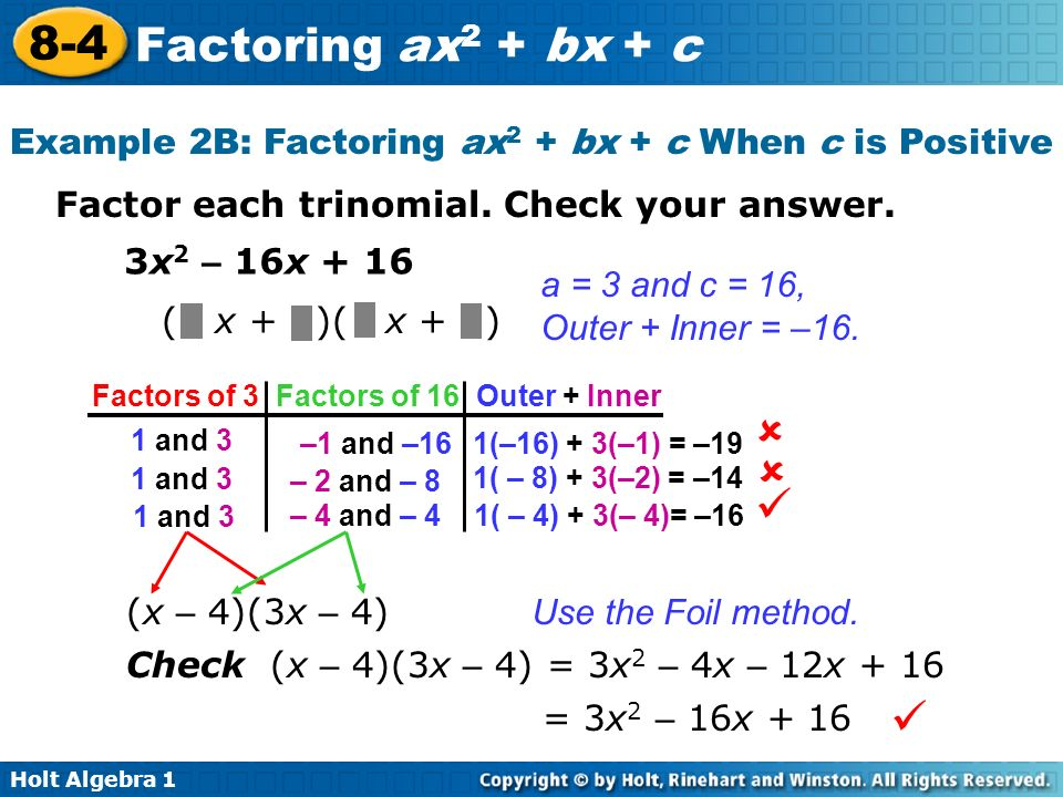 problem solving lesson 8-4 factoring ax2+bx+c