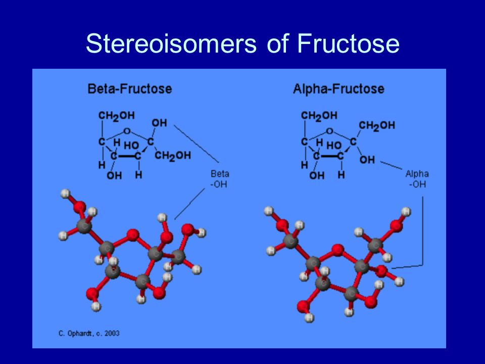 Stereoisomers of Fructose