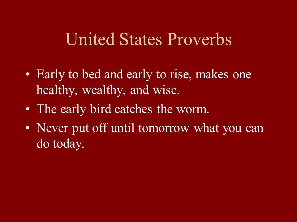 United States Proverbs