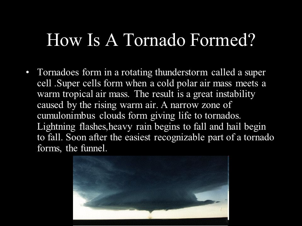 How Is A Tornado Formed