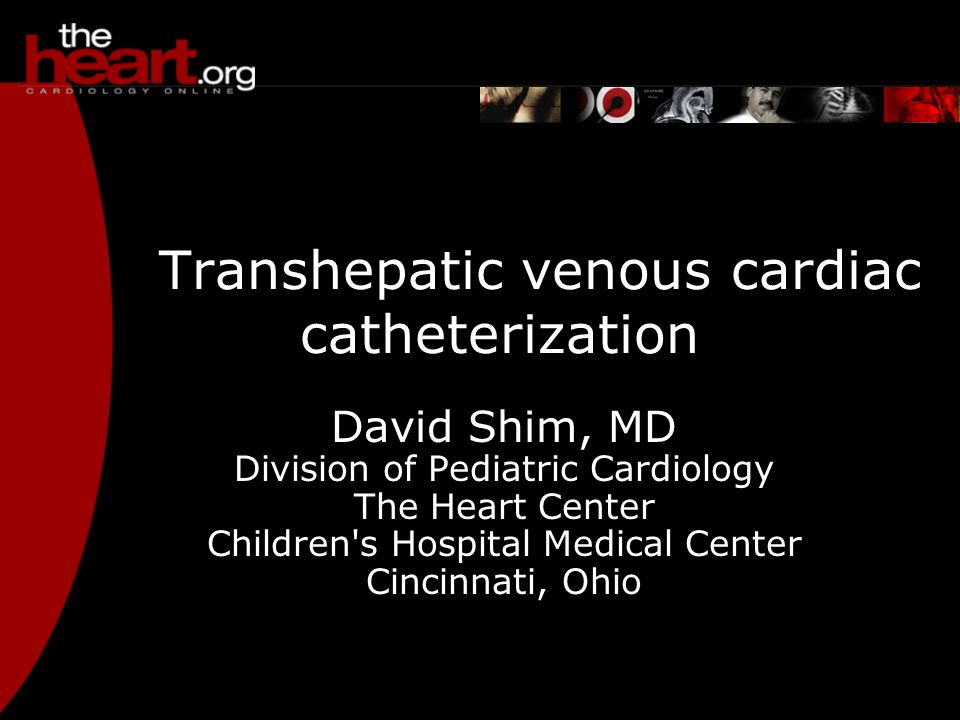 Transhepatic venous cardiac catheterization