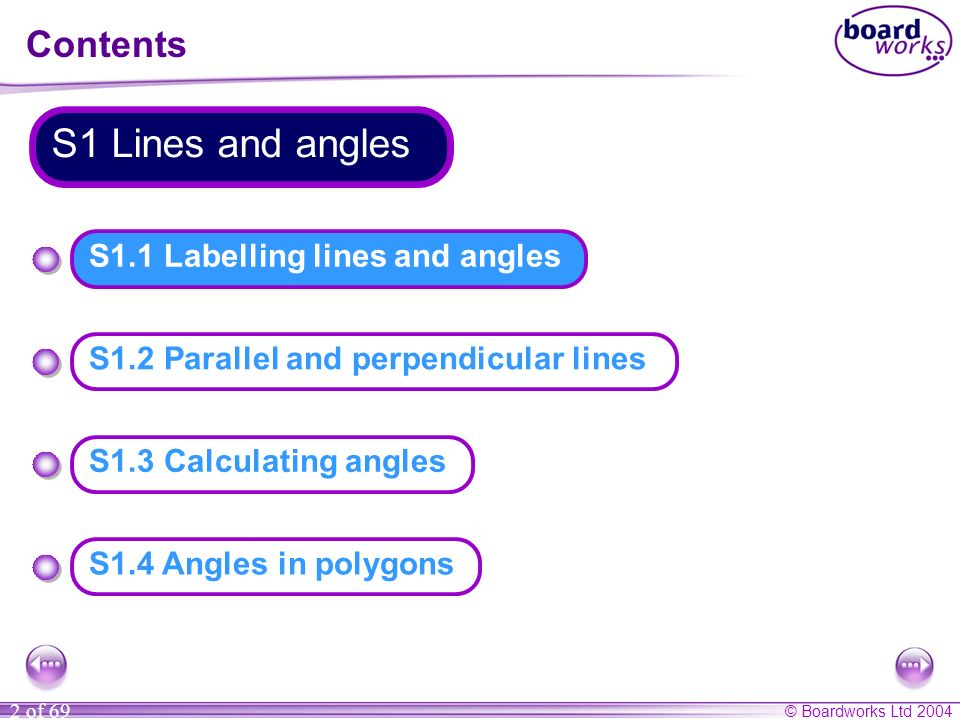 S1.1 Labelling lines and angles
