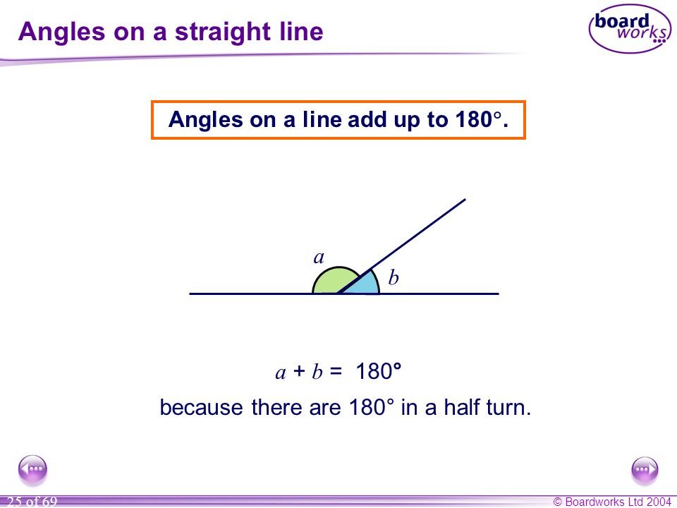 Angles on a straight line