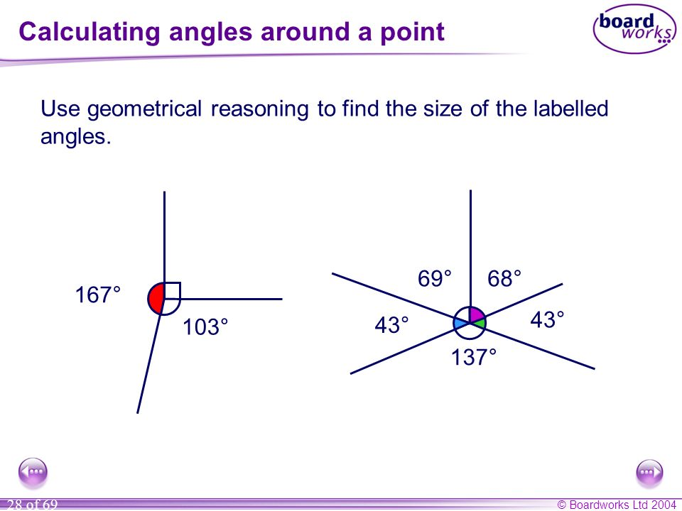 Calculating angles around a point