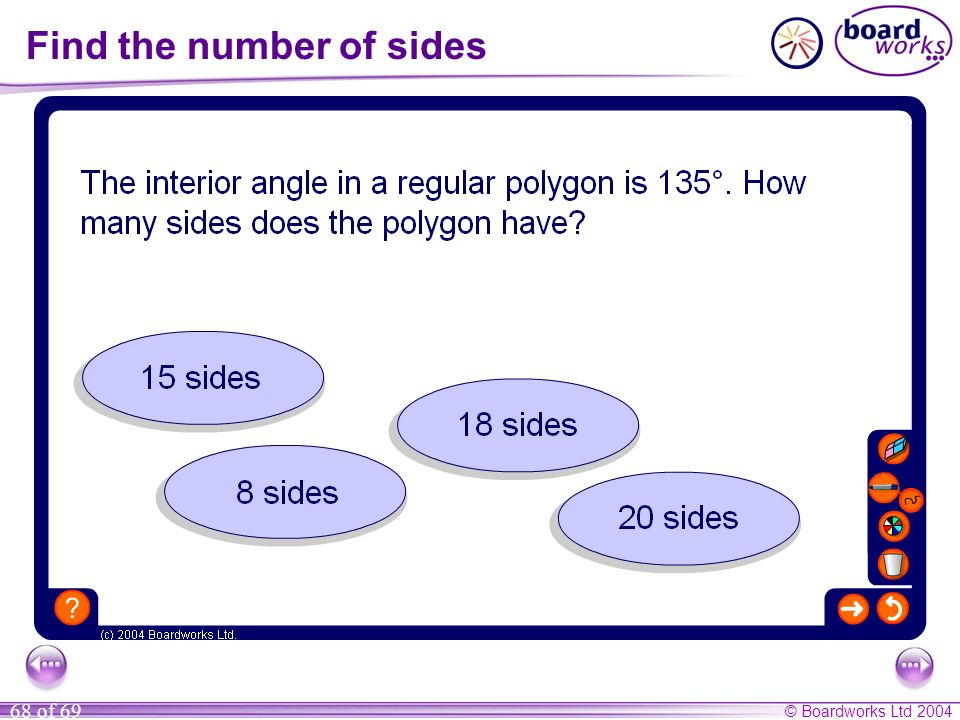 Find the number of sides