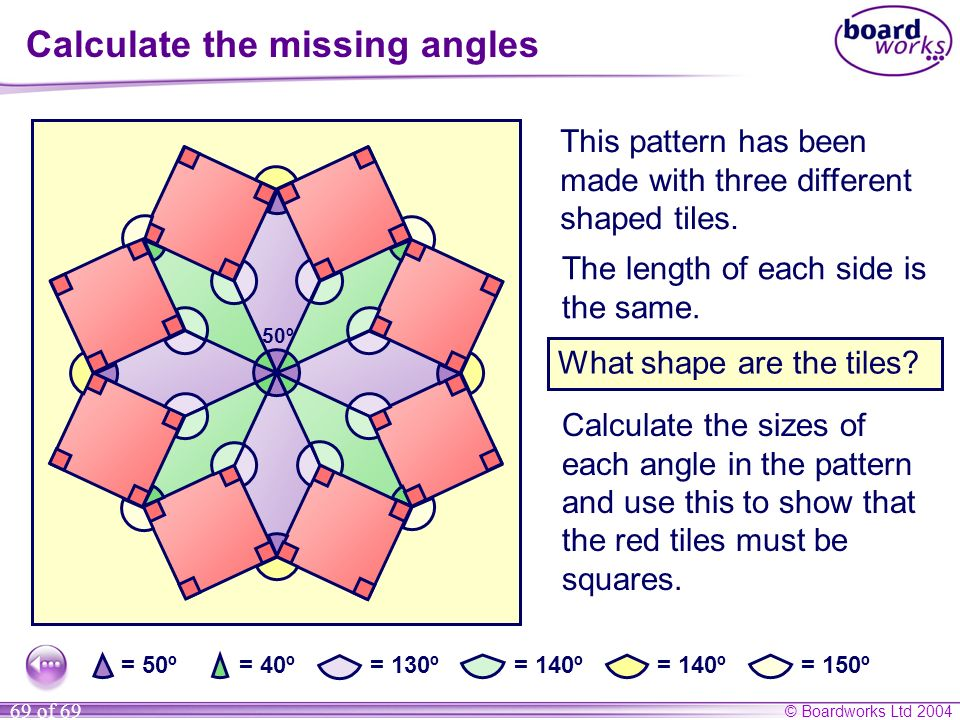 Calculate the missing angles