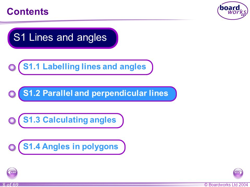 S1.2 Parallel and perpendicular lines