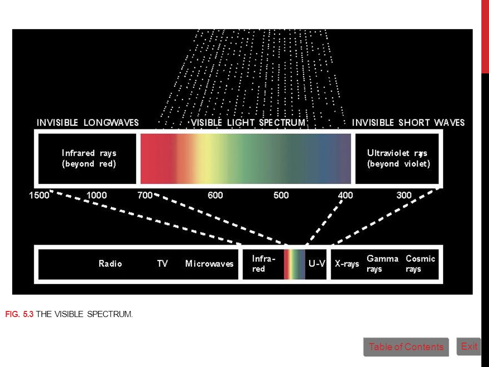 Fig. 5.3 The visible spectrum.