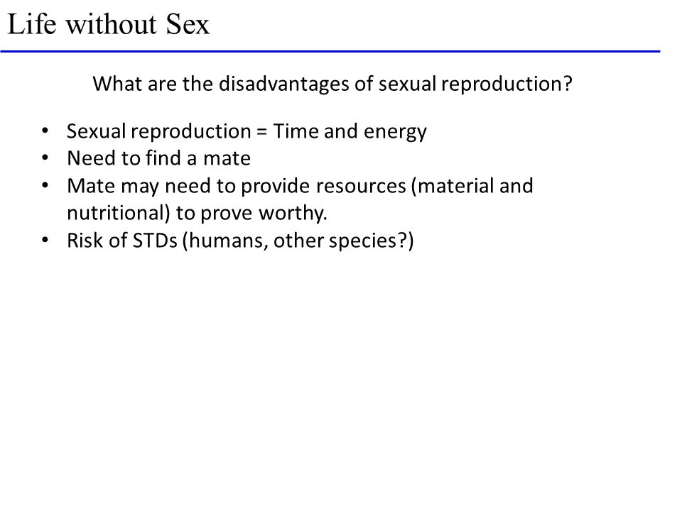 Potential disadvantage of sexual reproduction